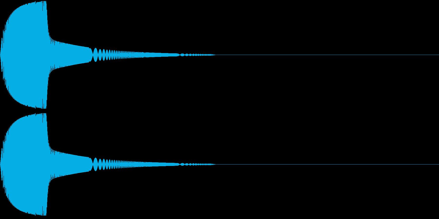 ツンと指先でつつく01の再生済みの波形