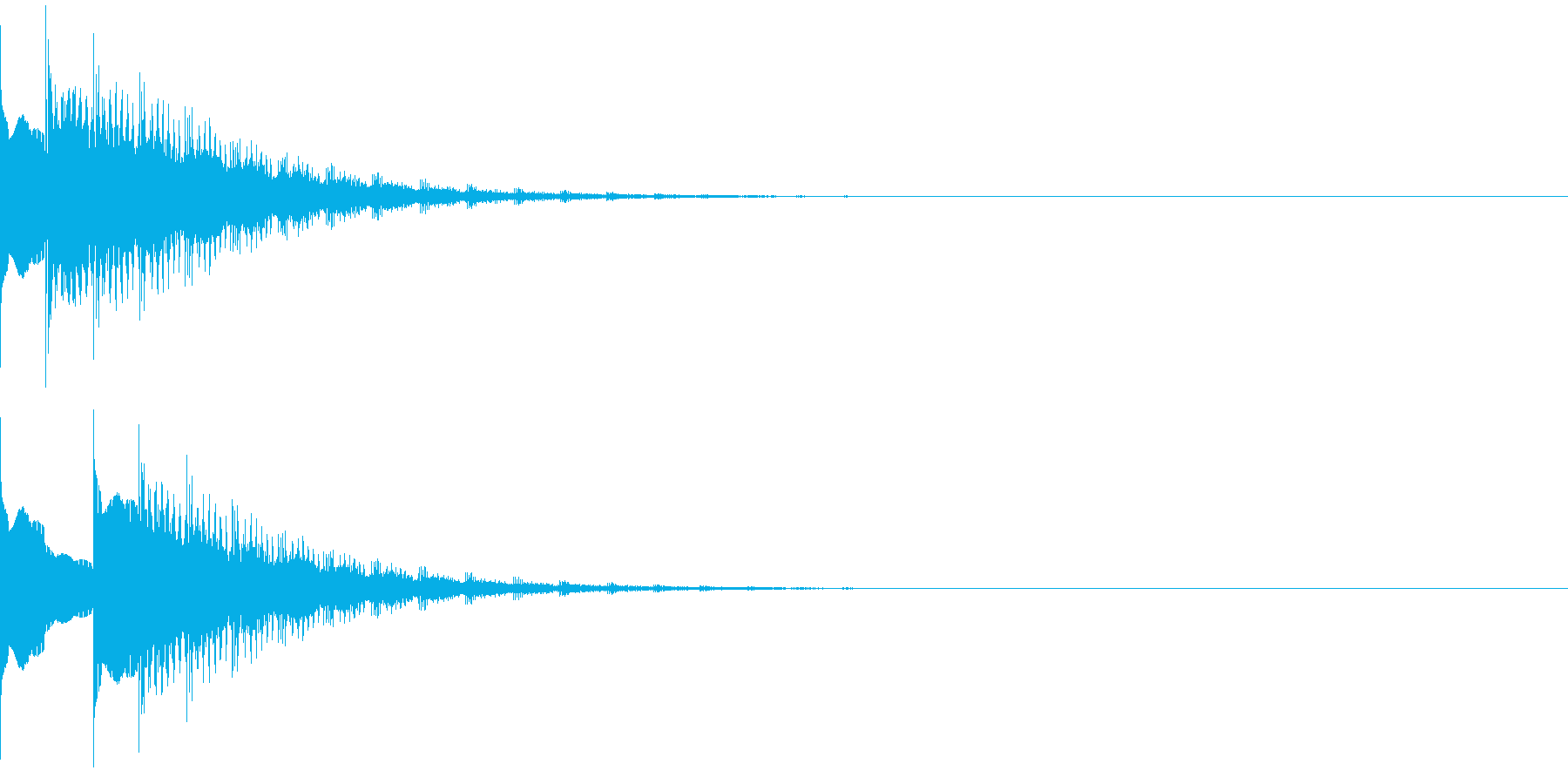 ピュリリリリリリリィ・・の再生済みの波形