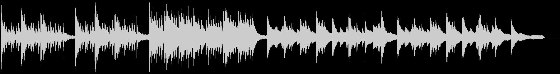 和風成分の入ったミステリー系の楽曲の未再生の波形