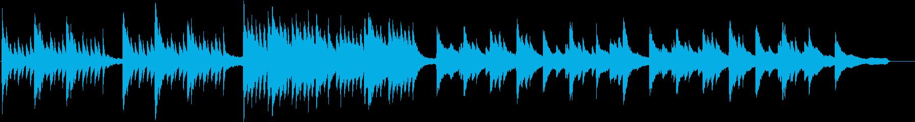 和風成分の入ったミステリー系の楽曲の再生済みの波形
