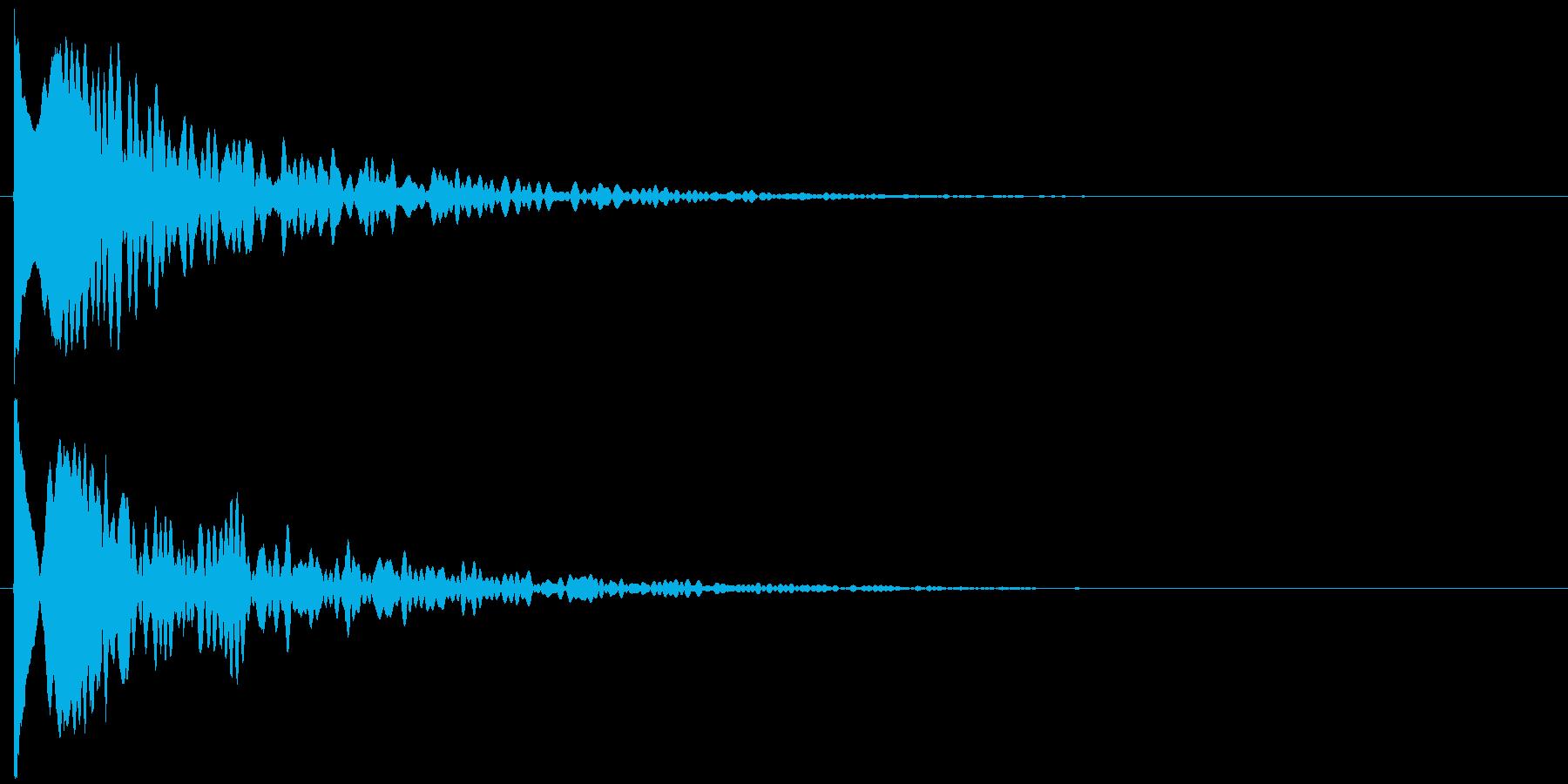 ッポヨ~ン~の再生済みの波形