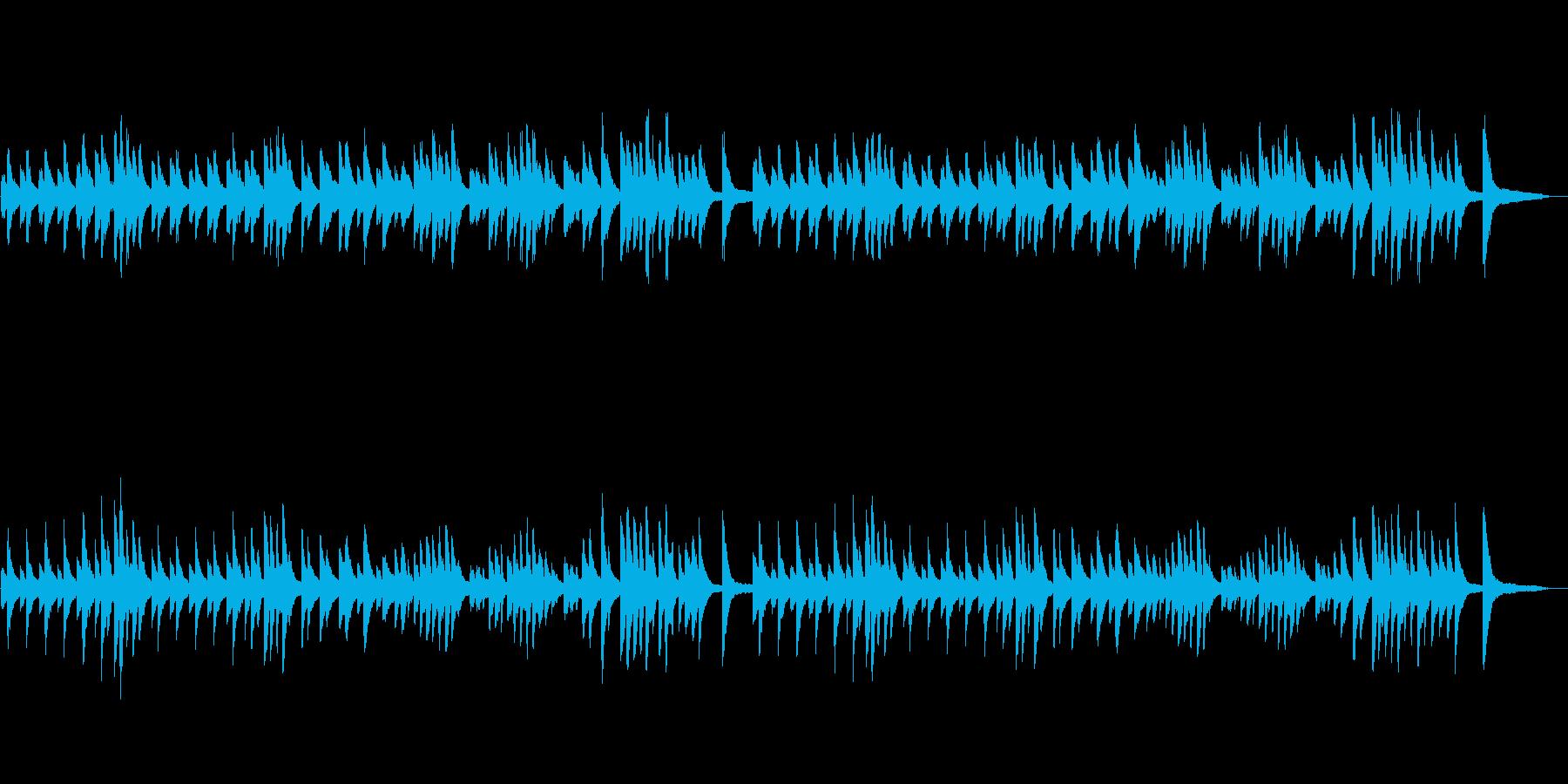 ジムノペディ(落ち着いたクラシック曲)の再生済みの波形