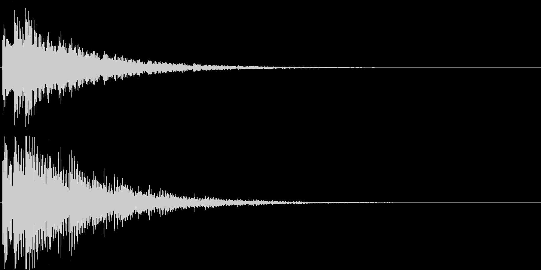 チャラリン(お知らせアラート音アコギ)の未再生の波形