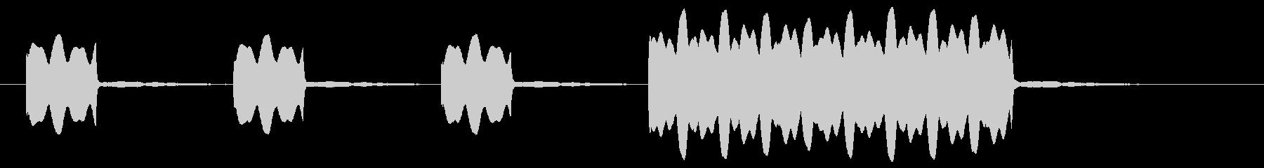 レーススタート音、クイズ出題の未再生の波形