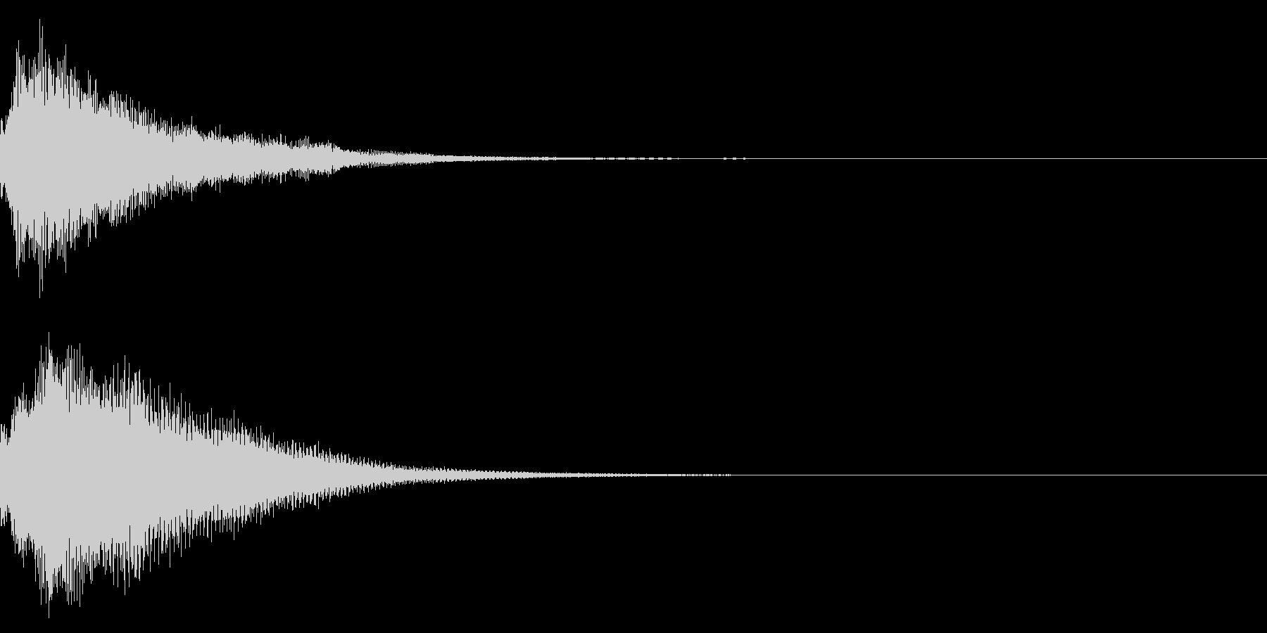 クリック コイン 発見 決定 29の未再生の波形