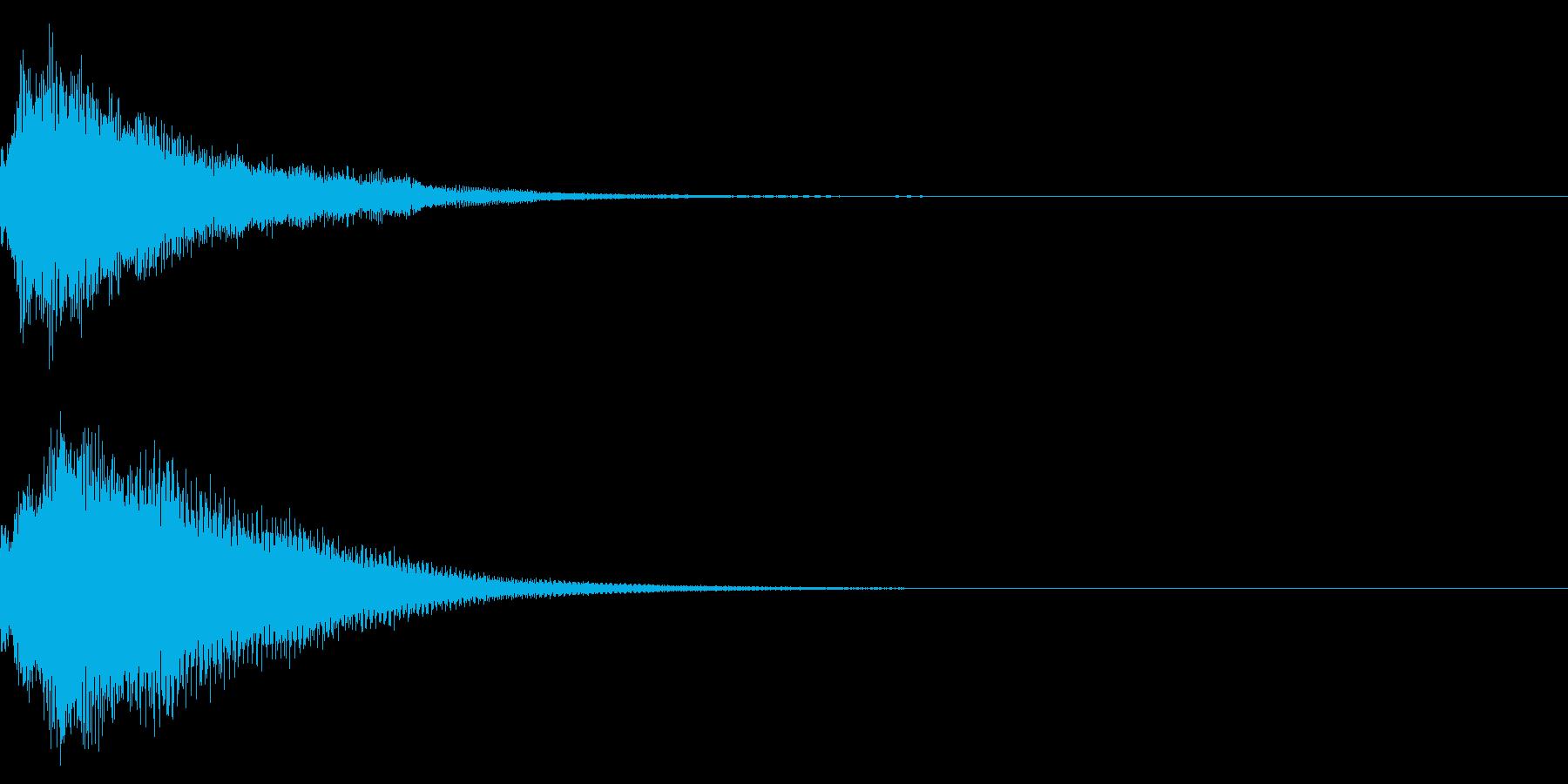 クリック コイン 発見 決定 29の再生済みの波形