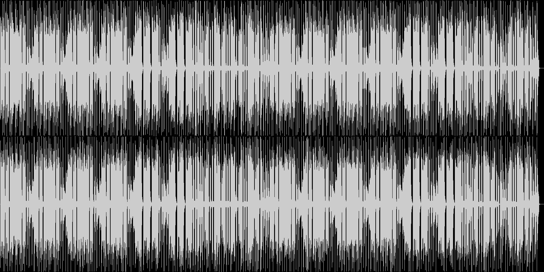 あたふたとしたBGMの未再生の波形