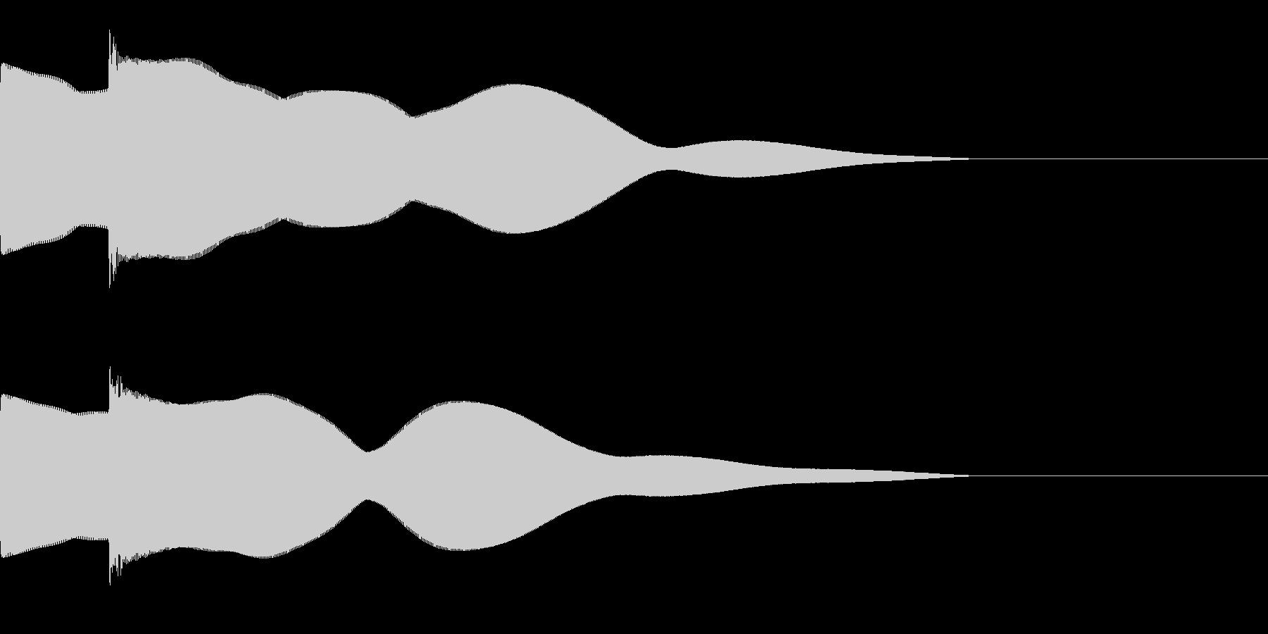 ピポーン(シンプルなクイズの回答音)の未再生の波形