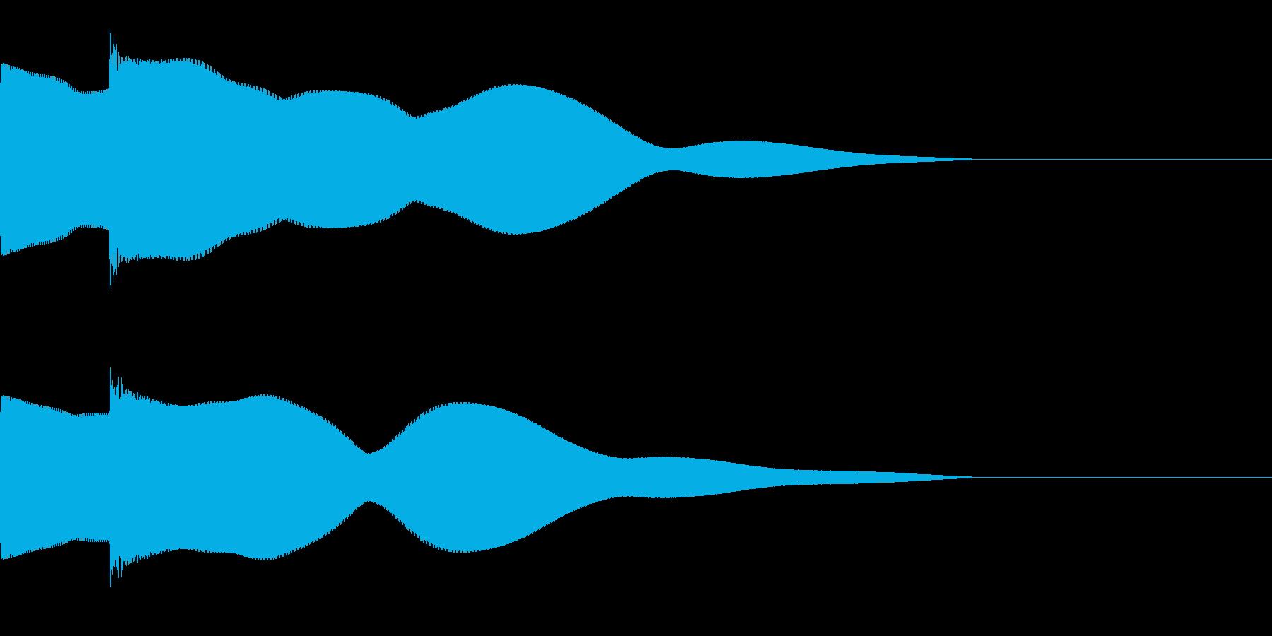 ピポーン(シンプルなクイズの回答音)の再生済みの波形