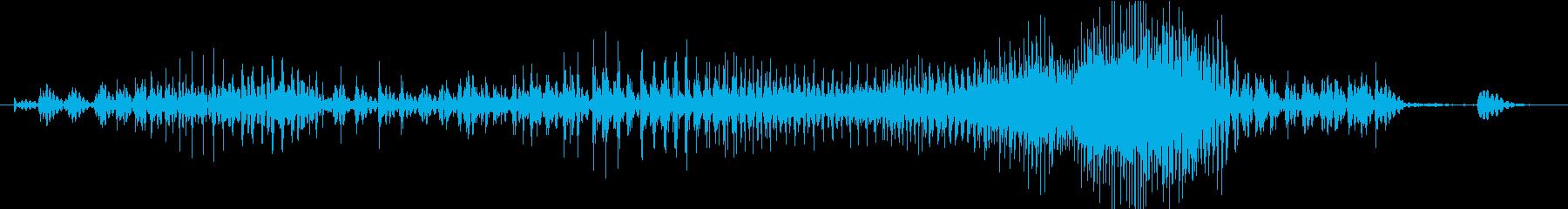 Zip ファスナーを閉める音の再生済みの波形