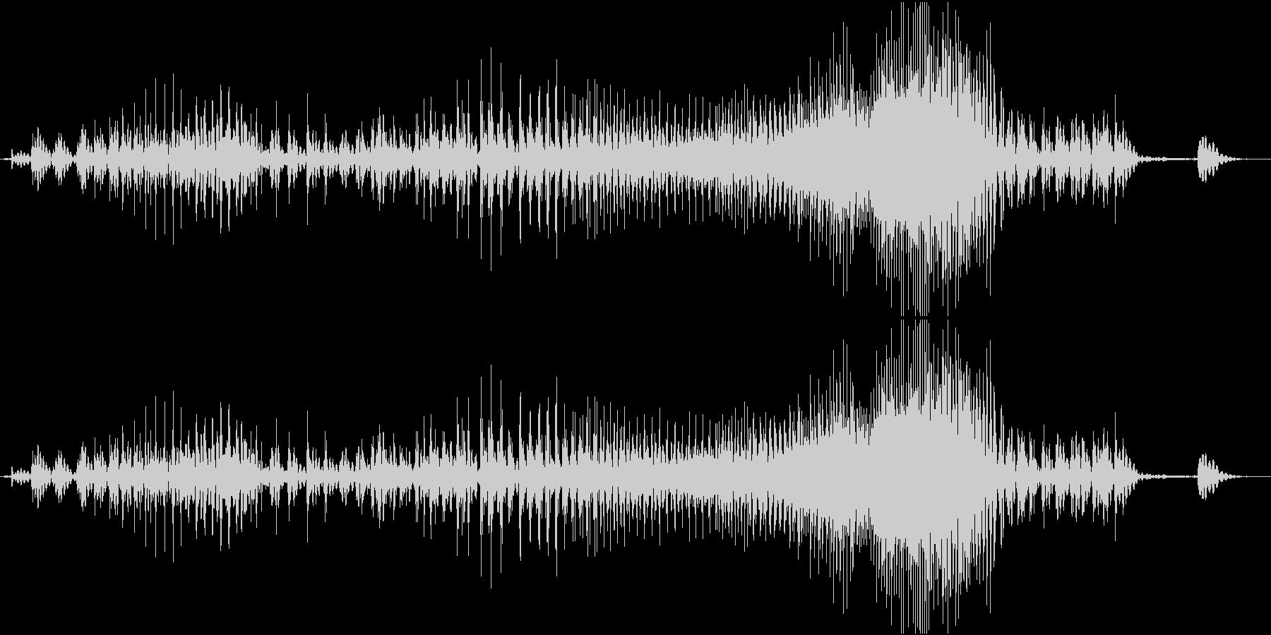 Zip ファスナーを閉める音の未再生の波形