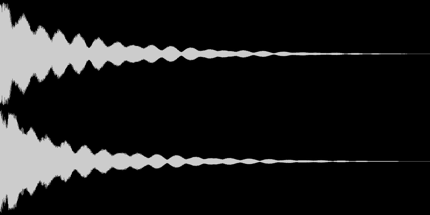 チーン 仏具の鐘、お鈴 ver.Bの未再生の波形