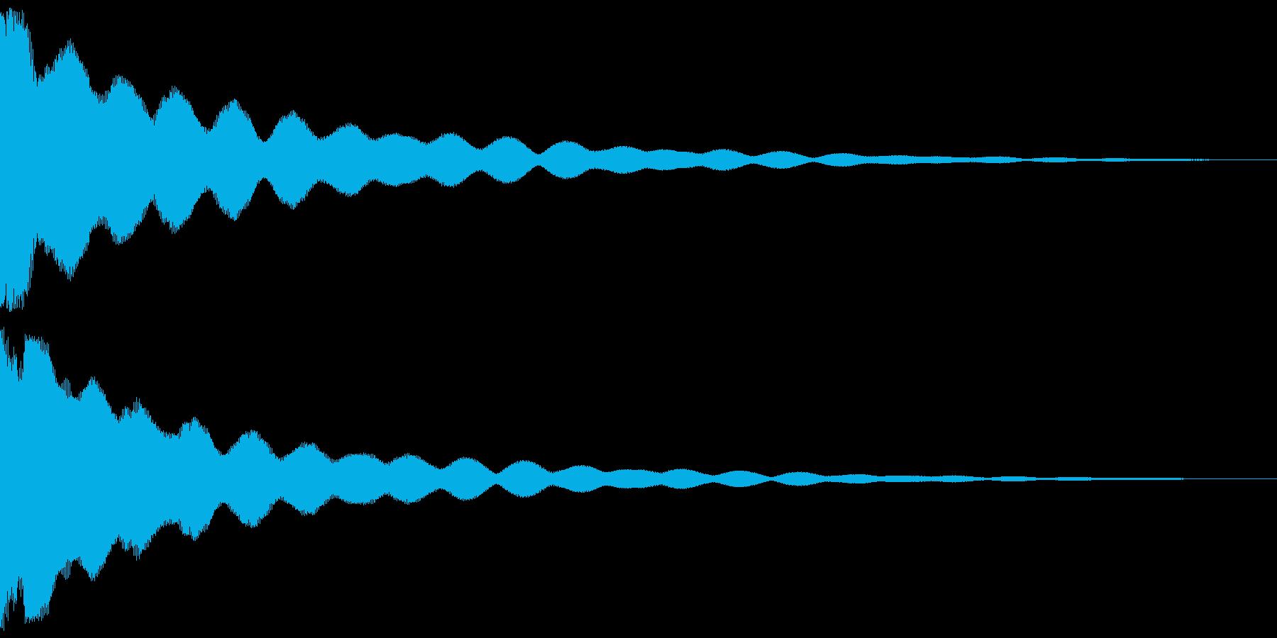 チーン 仏具の鐘、お鈴 ver.Bの再生済みの波形