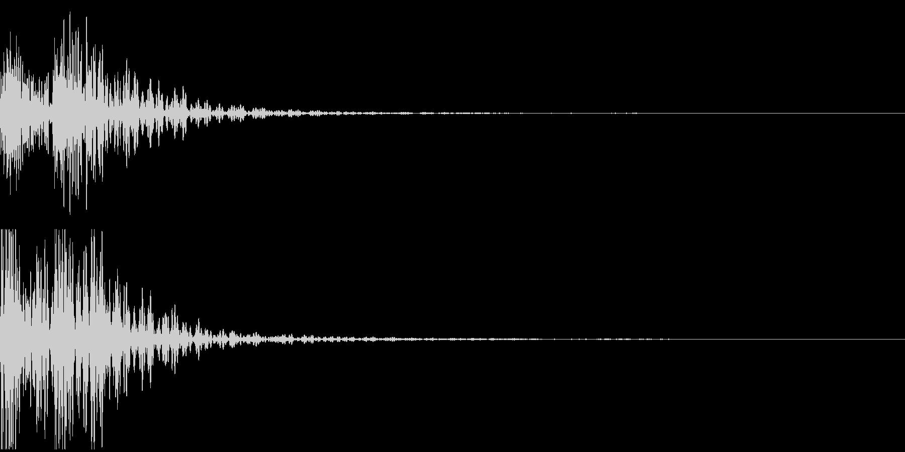 太鼓音1【ドドン】の未再生の波形