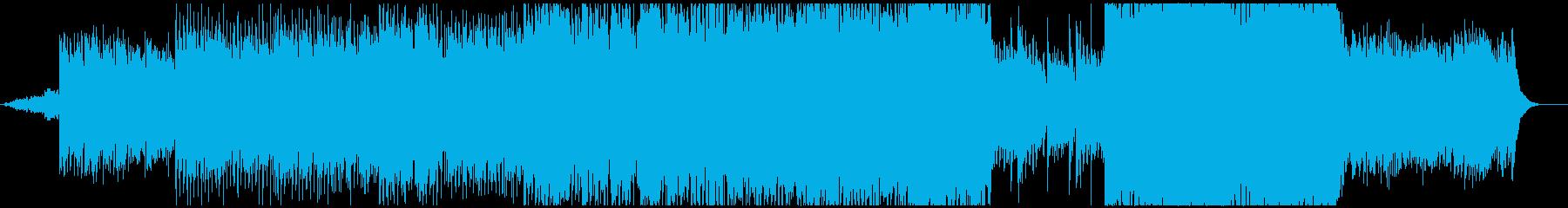 アコギを使用したゆったりとした映像的な曲の再生済みの波形