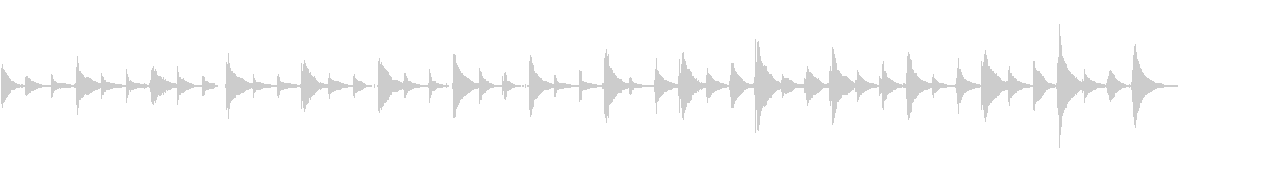 思考中、想像中に最適な不思議なウクレレ曲の未再生の波形