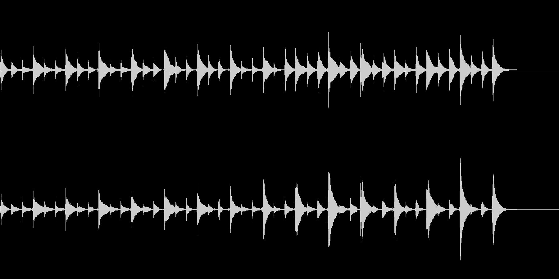 思考中、想像中、寝る前、不思議ウクレレ曲の未再生の波形