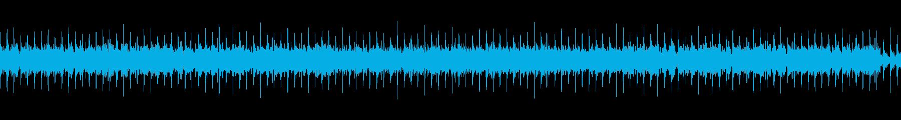 ドライブ感のあるヘヴィロックサウンドの再生済みの波形