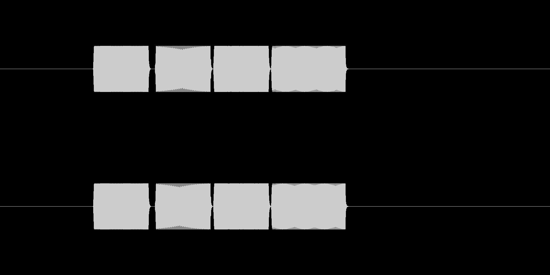 サイン波(ピピピピ)の未再生の波形
