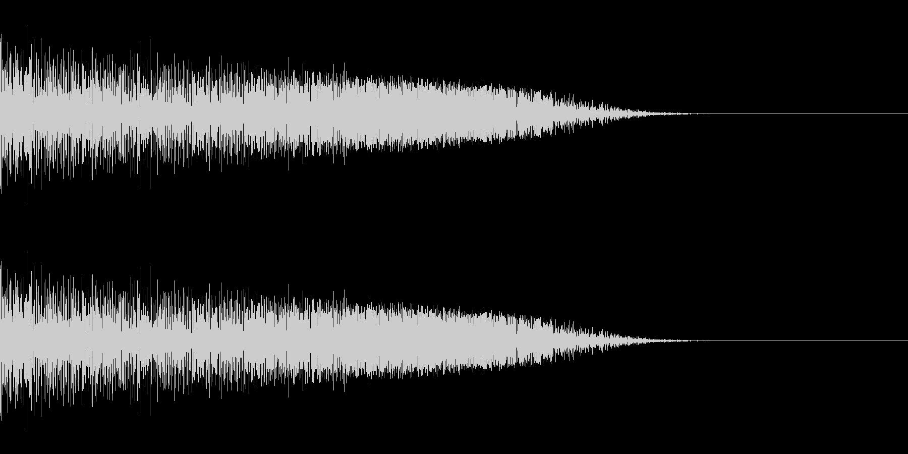 シュッ(スワイプ/ジャンプ/ゲーム)の未再生の波形