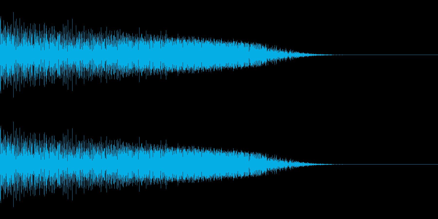 シュッ(スワイプ/ジャンプ/ゲーム)の再生済みの波形