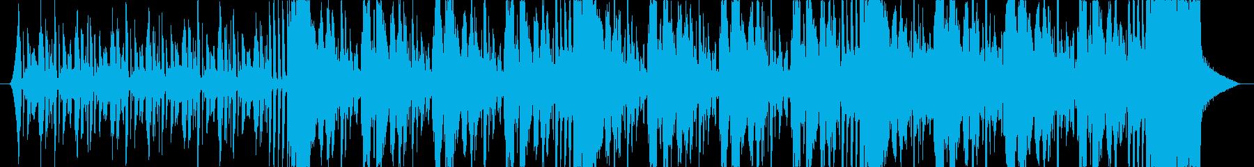 宇宙的、近未来的な楽曲の再生済みの波形