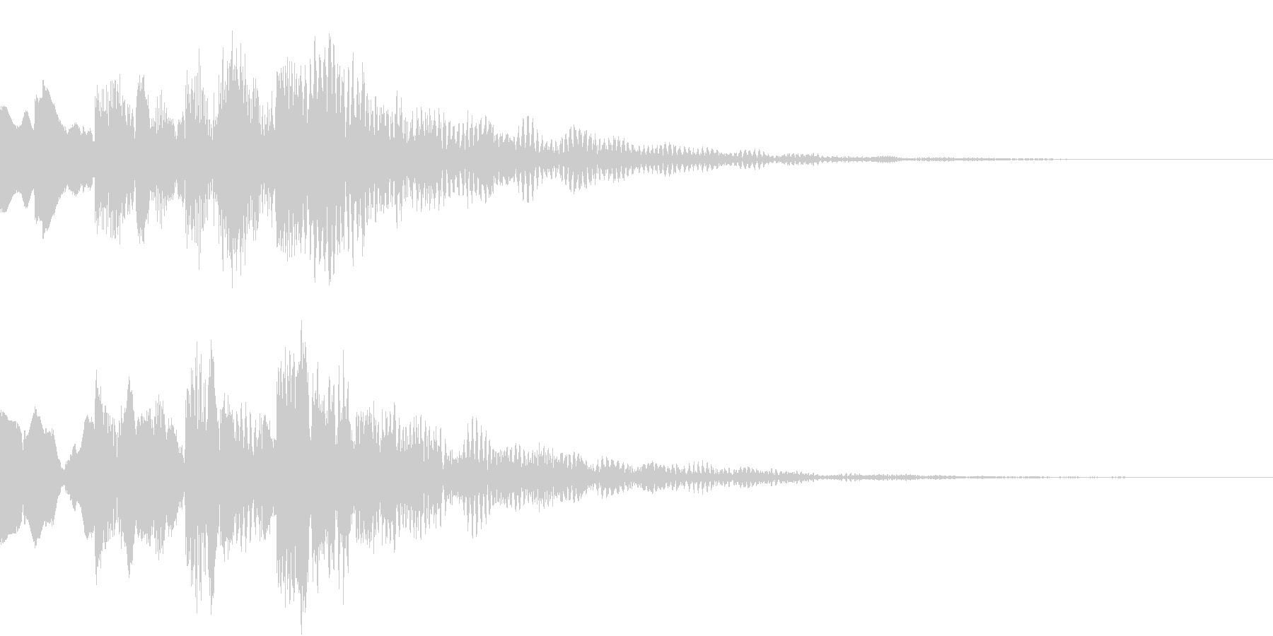 シンプルな決定音 ボタン音 正解音 16の未再生の波形
