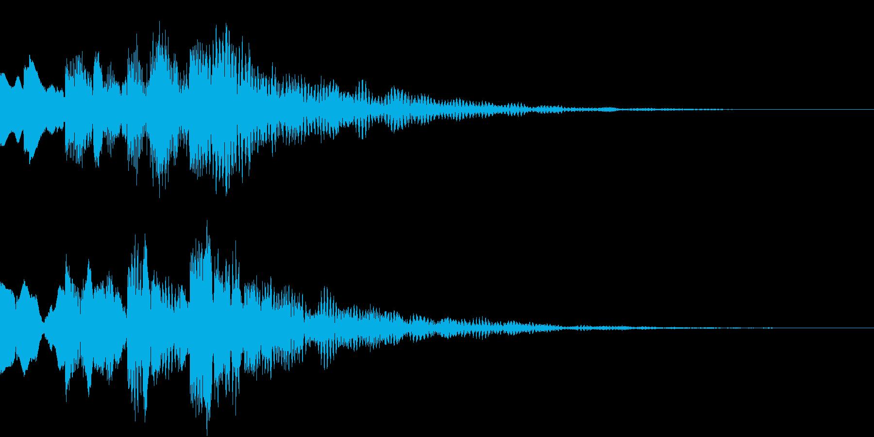 シンプルな決定音 ボタン音 正解音 16の再生済みの波形
