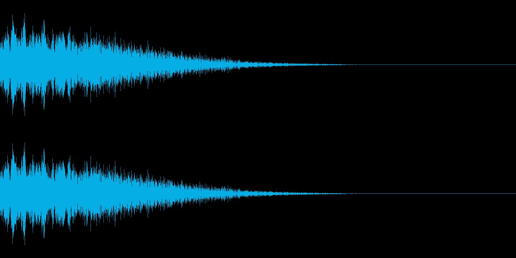 ピユーン(エフェクト_パワーダウン)の再生済みの波形