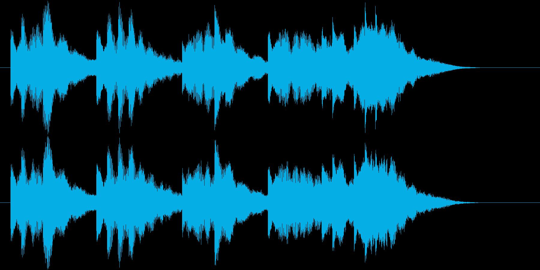 発車メロディー風のジングルの再生済みの波形
