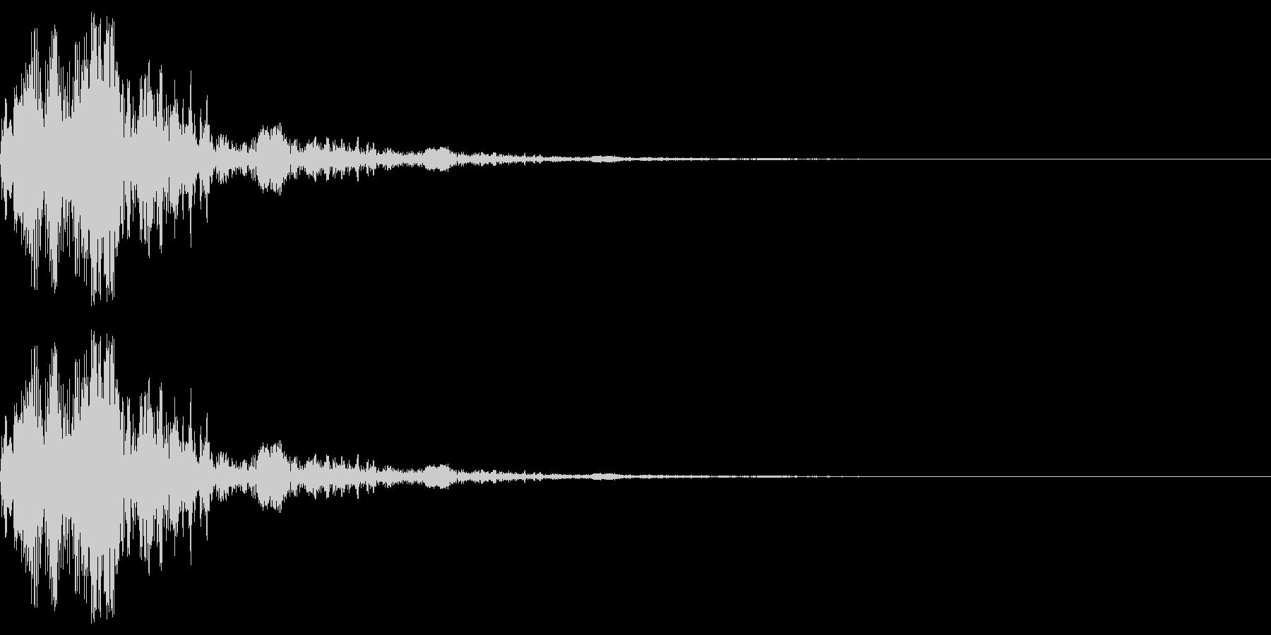 アニメにありそうなエネルギー弾(ポッ)の未再生の波形