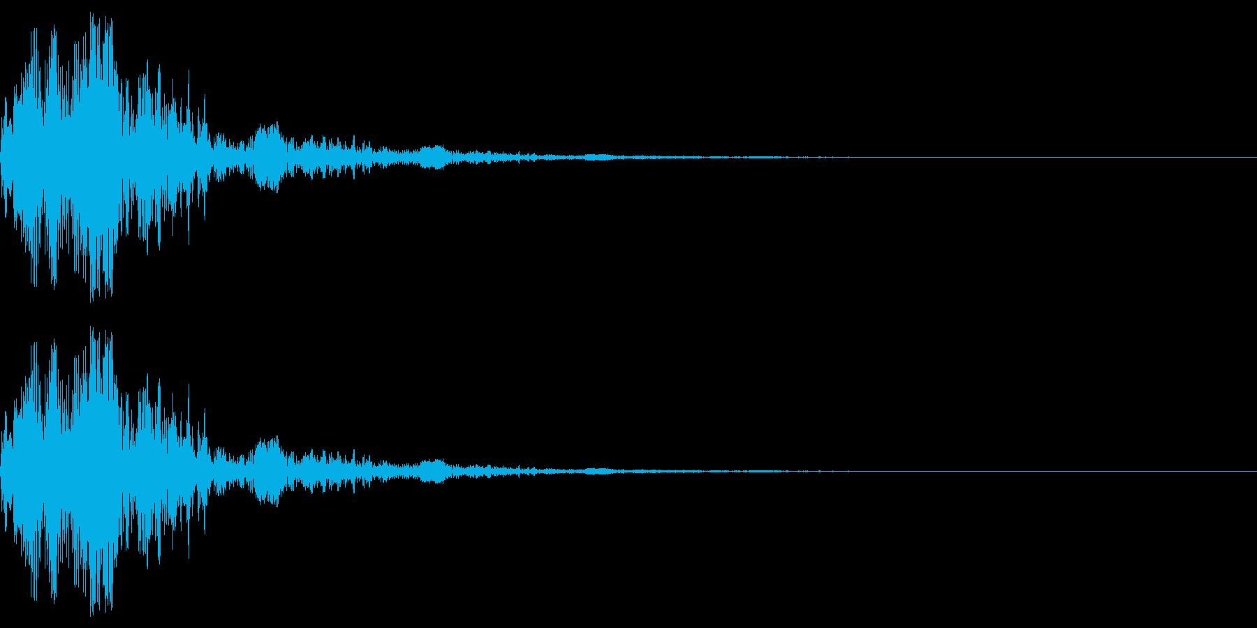 アニメにありそうなエネルギー弾(ポッ)の再生済みの波形