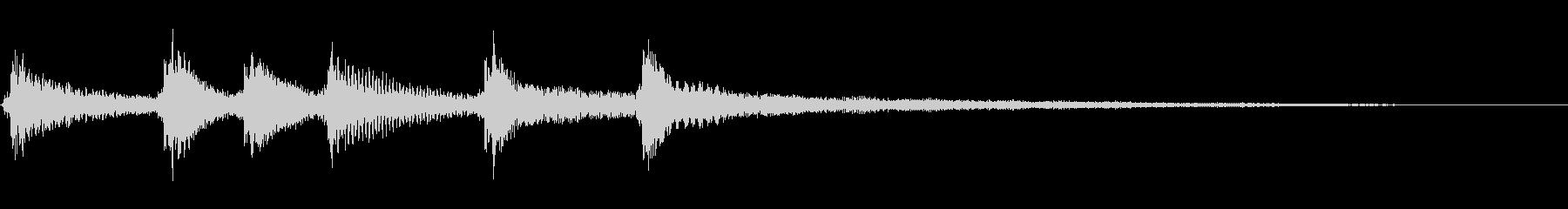 シンプルな琴の和風効果音です。の未再生の波形