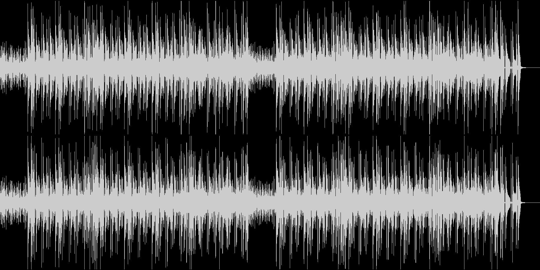 シンプルで軽快なジャズの未再生の波形