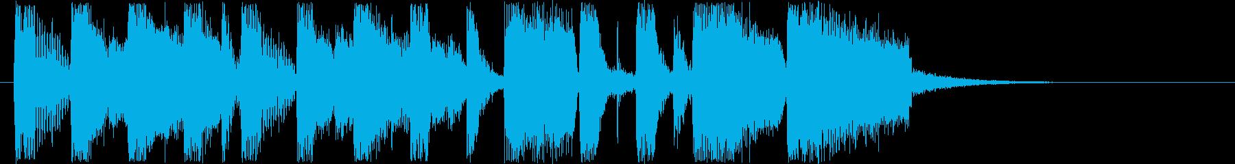 南国風のポップミュージックの再生済みの波形