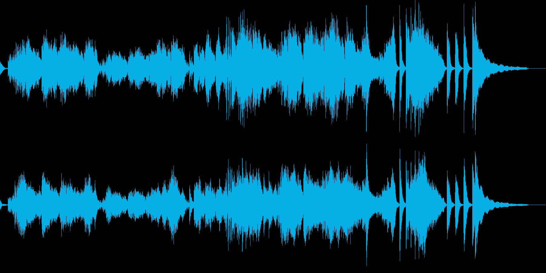 ピアノ独奏による短いワルツです。の再生済みの波形