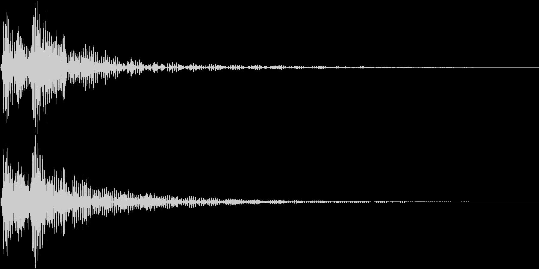 どどんっ(太鼓と鈴の決定音)の未再生の波形