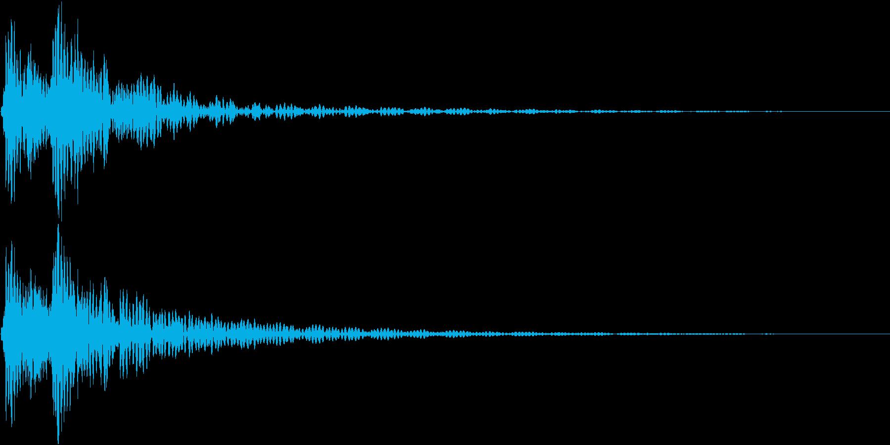 どどんっ(太鼓と鈴の決定音)の再生済みの波形