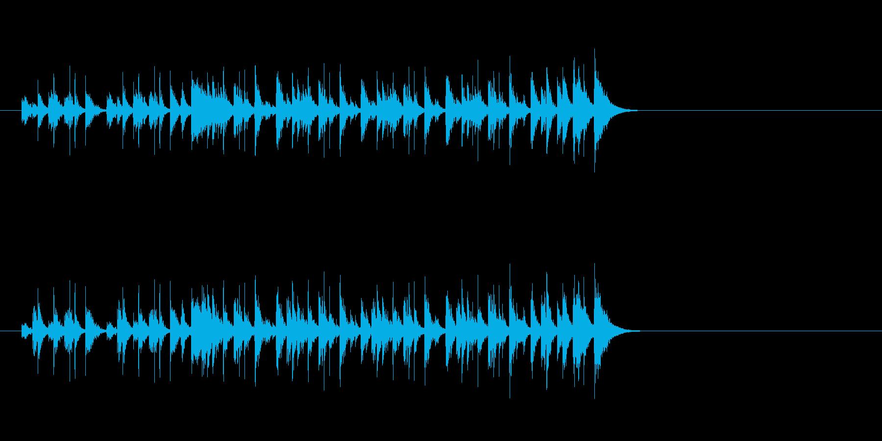 軽快でエキサイティングなジングルの再生済みの波形