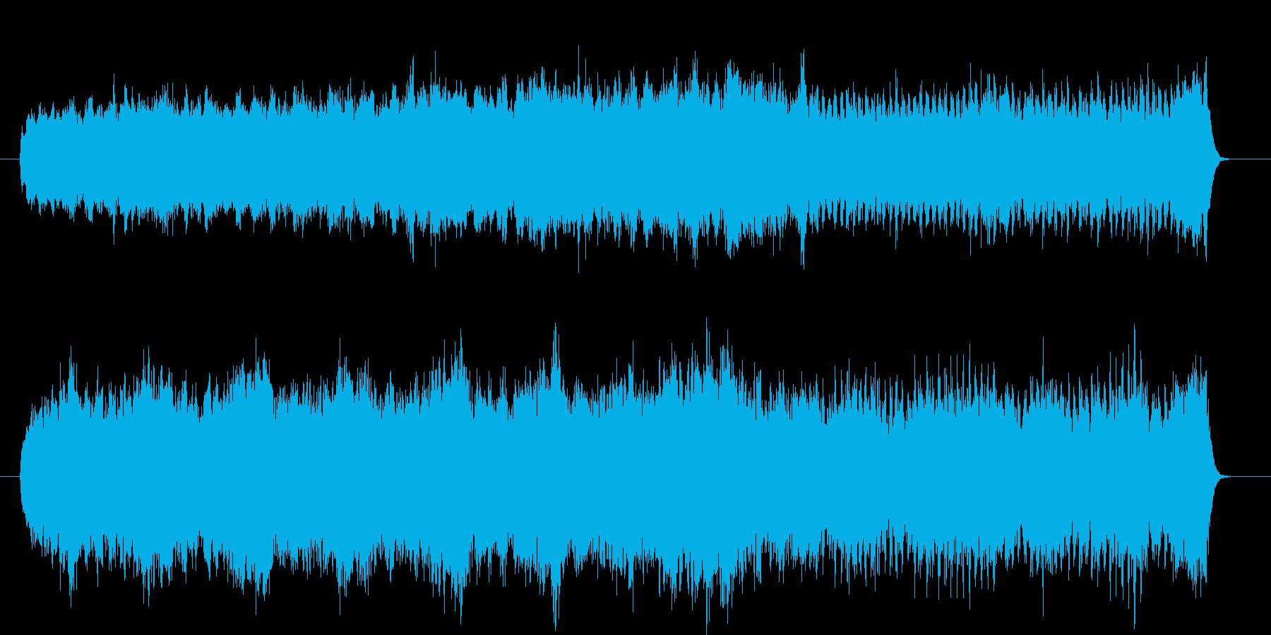 春の海辺をイメージした曲の再生済みの波形