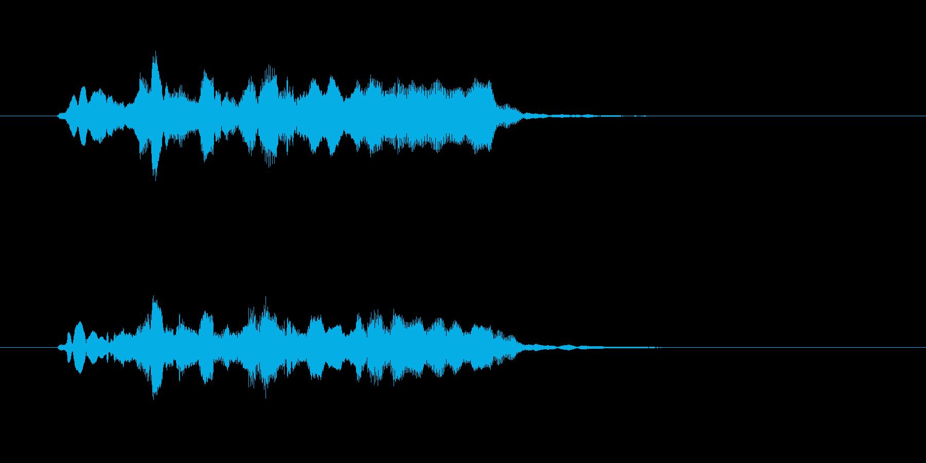 フルートとエレピの美しいジングルの再生済みの波形
