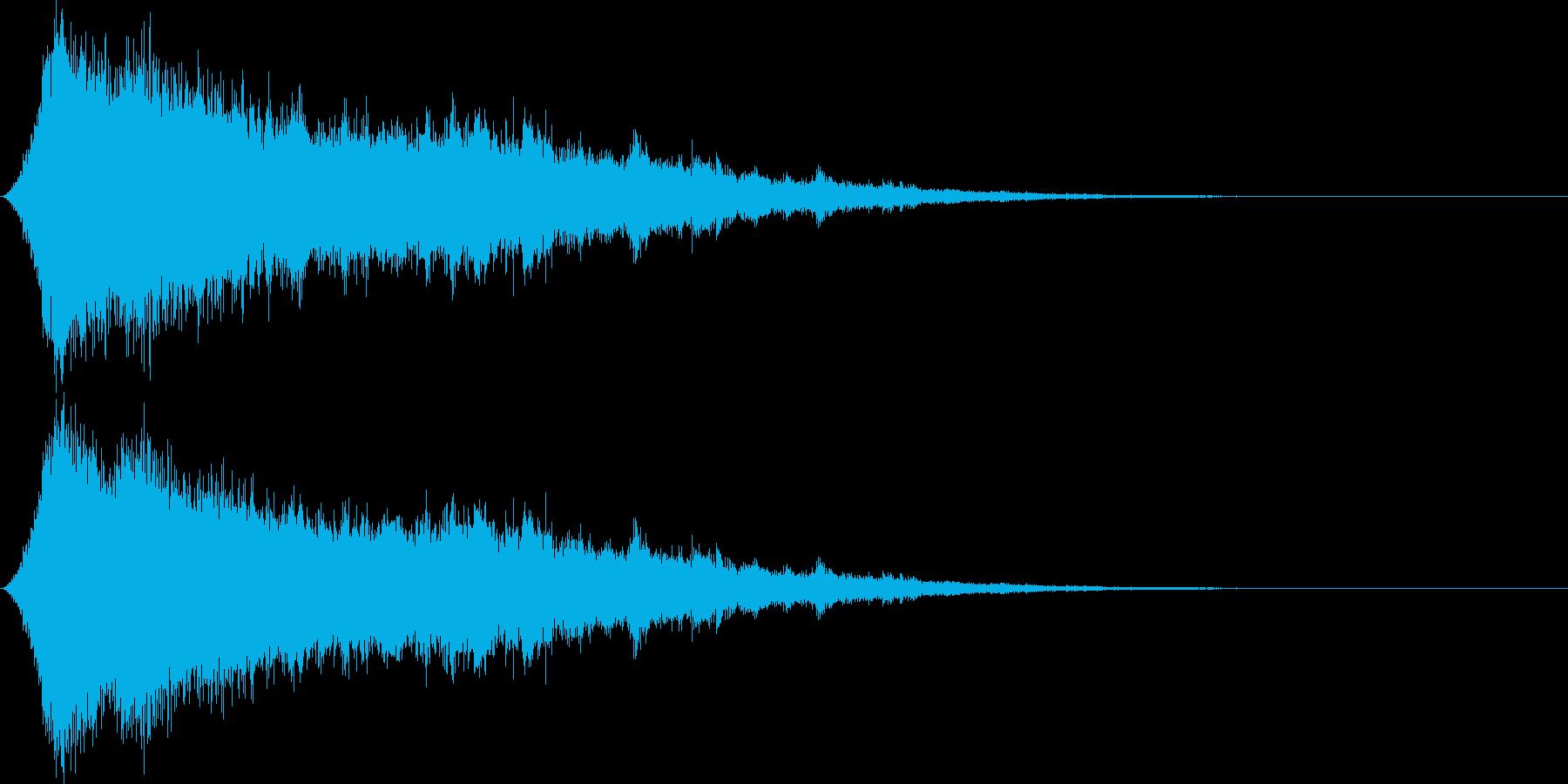 光魔法キラーンシャーンの再生済みの波形