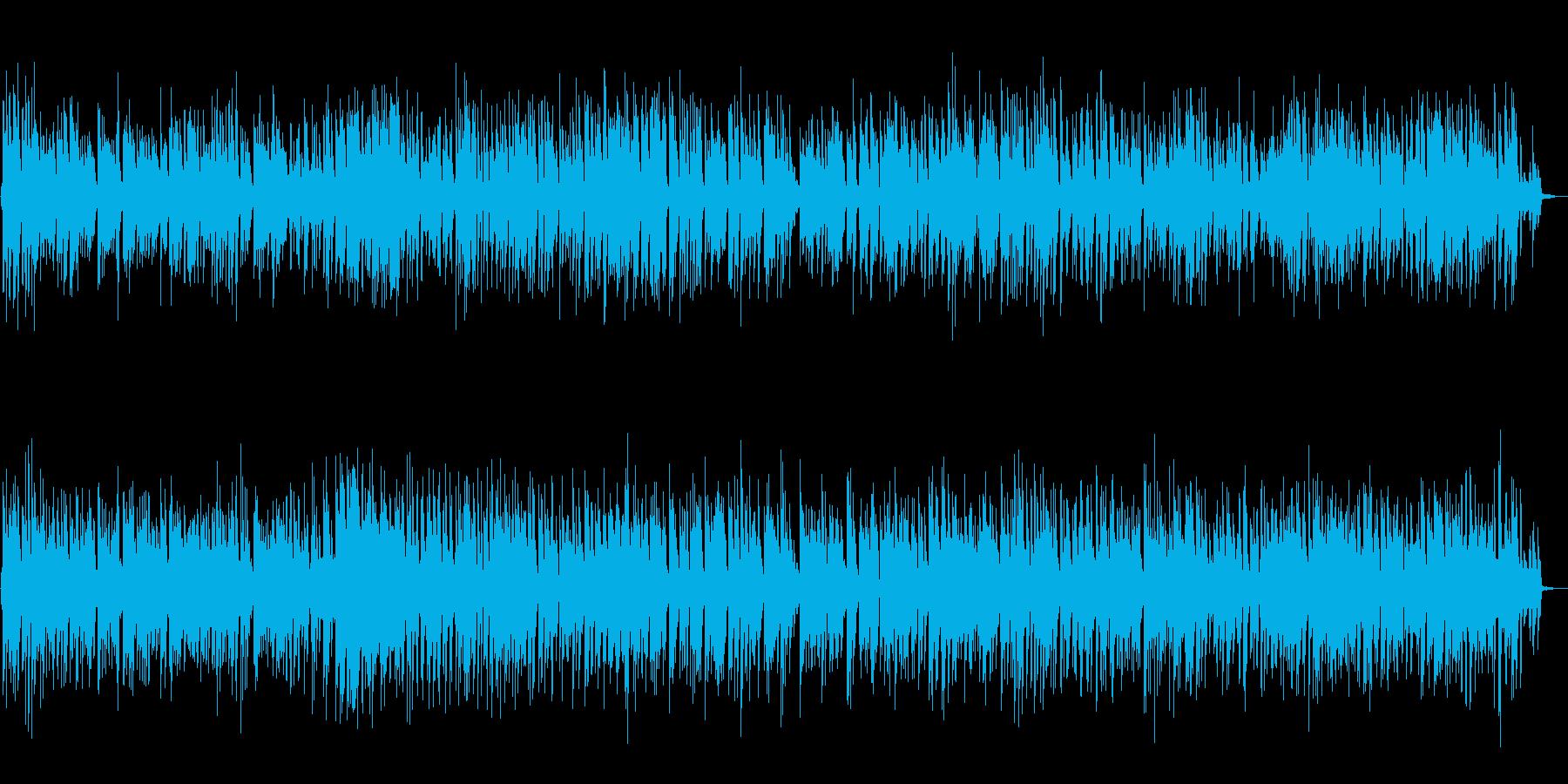 控えめなノリでオシャレなピアノBGMの再生済みの波形