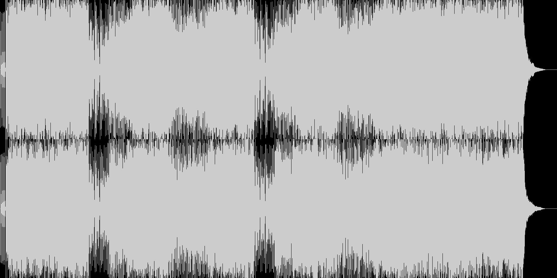 爽やかダンスポップの未再生の波形