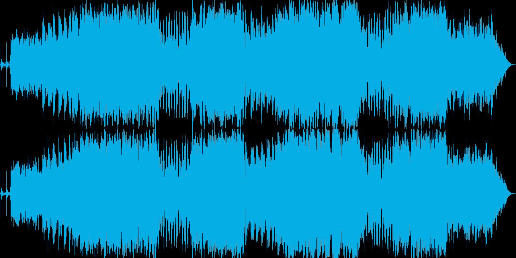 癒されるシンセとアコースティックギターの再生済みの波形