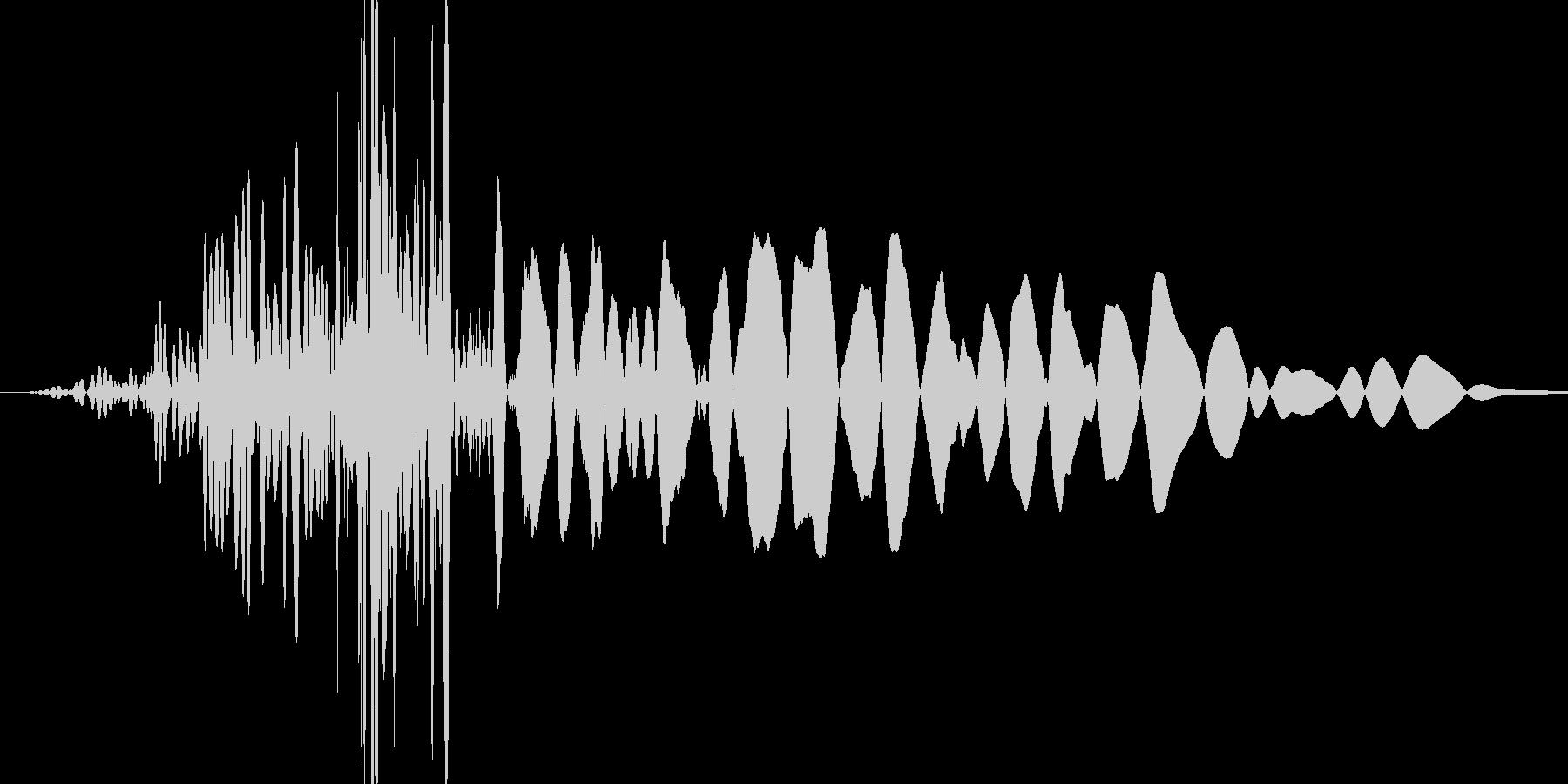 ボフッ(短い風切り音が入っている打撃音)の未再生の波形