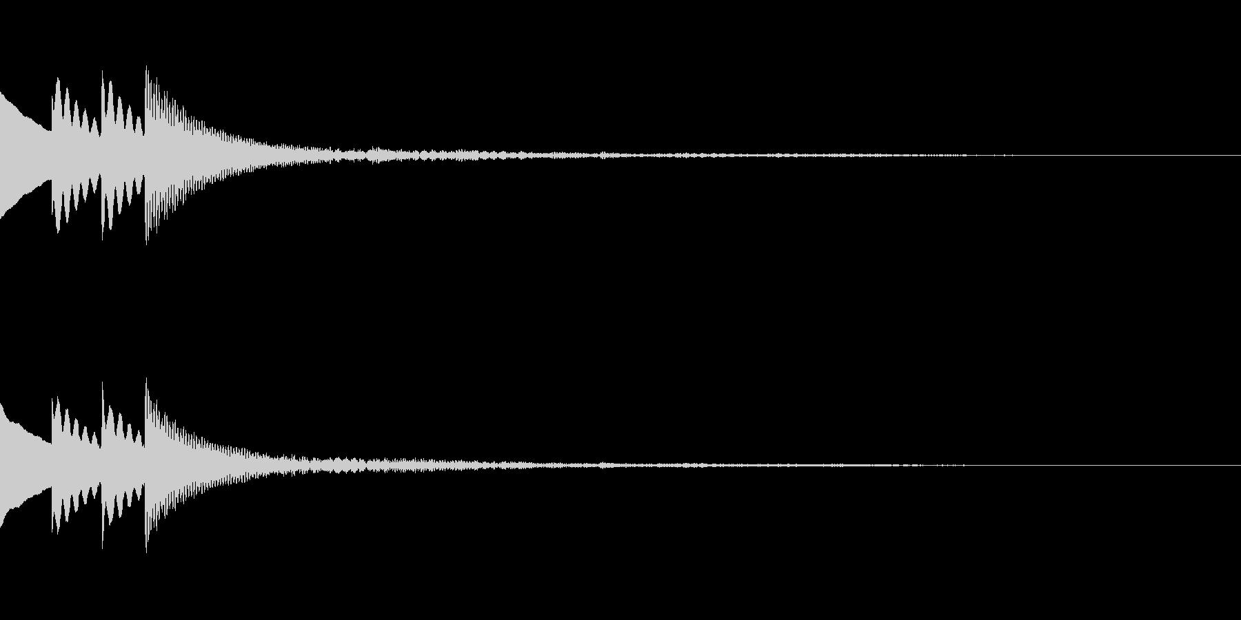 木琴 SE02の未再生の波形