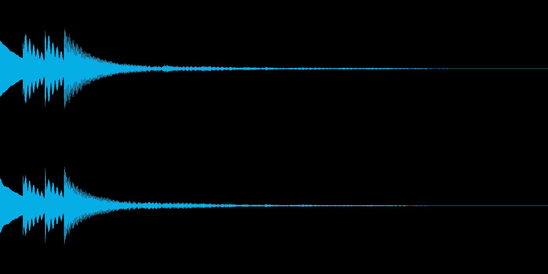 木琴 SE02の再生済みの波形