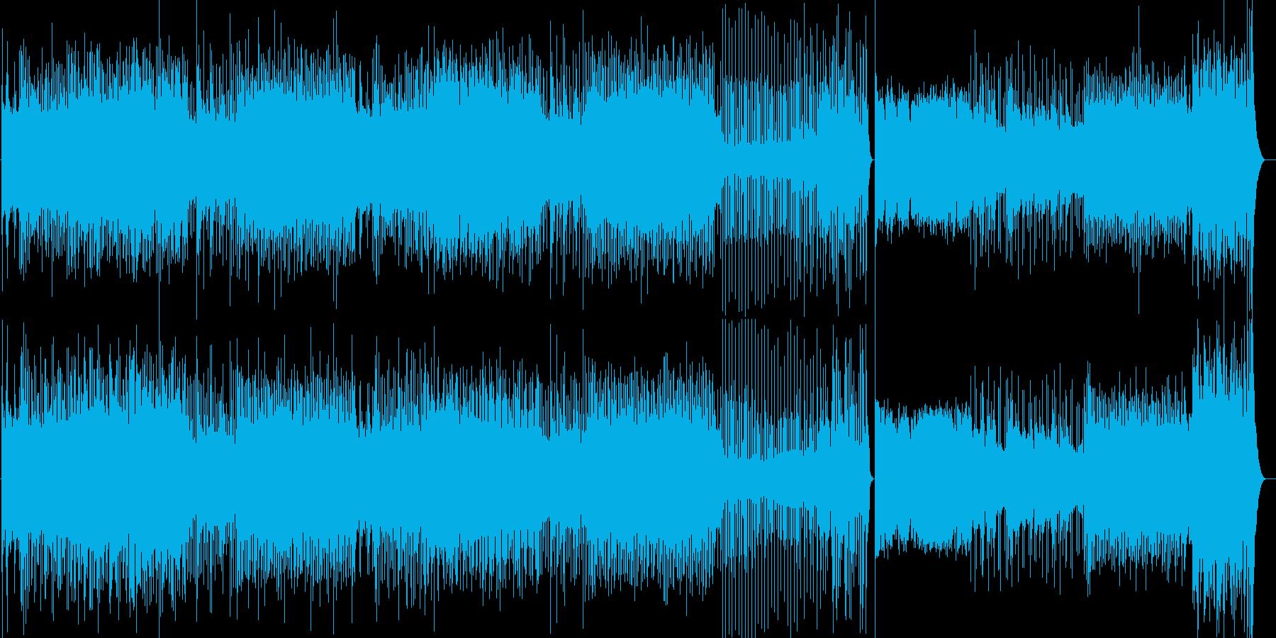 カーアクションゲーム向きのBGM。サー…の再生済みの波形
