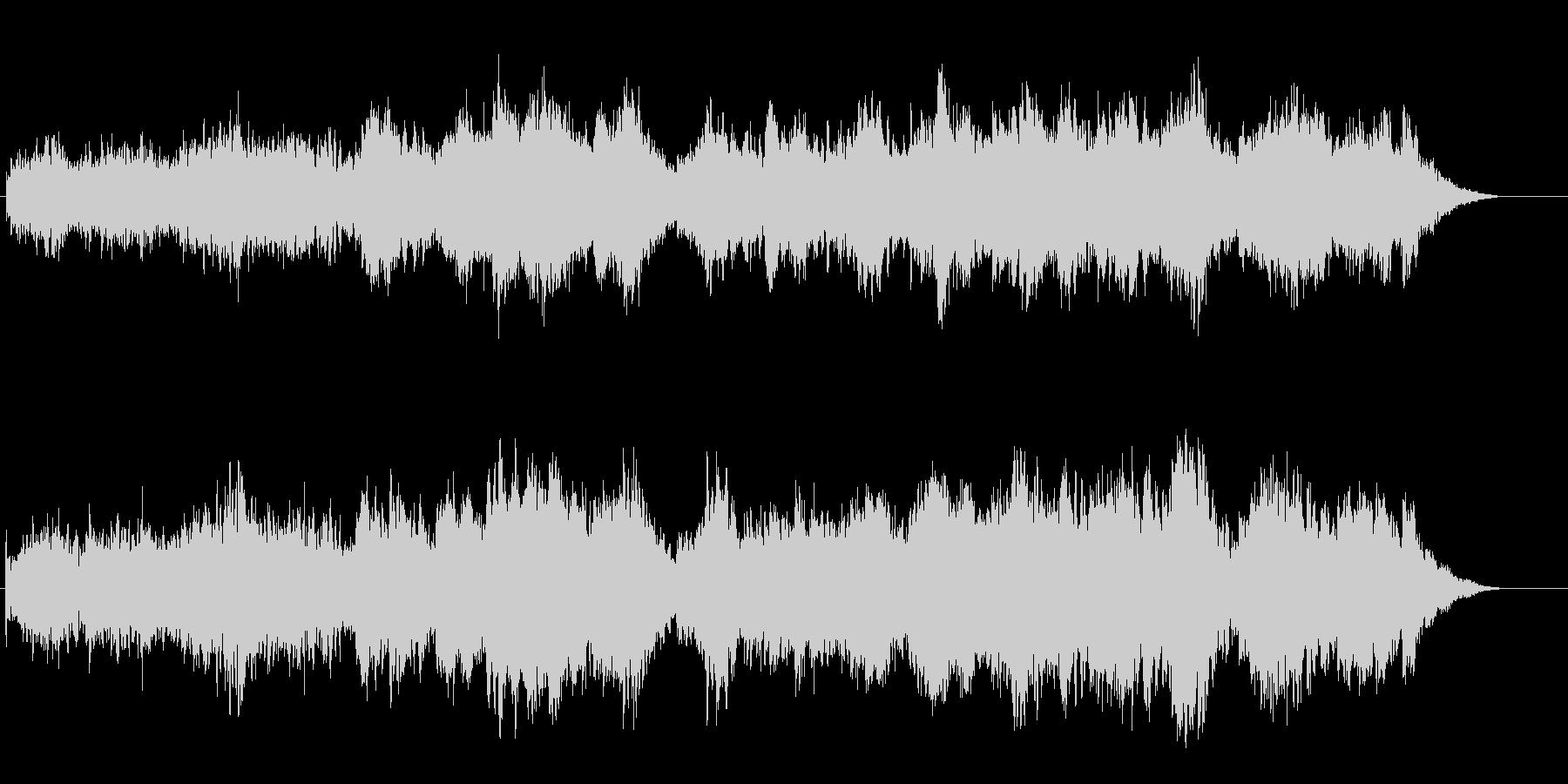浮遊感覚のあるα波アンビエントBGMの未再生の波形